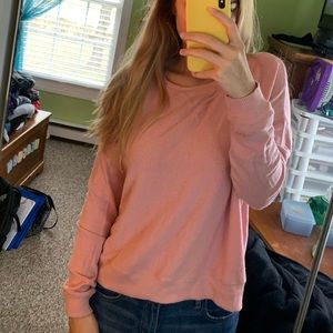 pink, flowy top